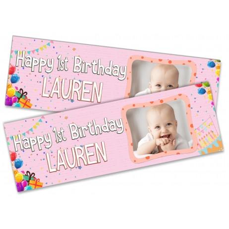 Photo Banner - Birthday Cake